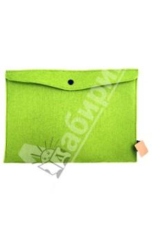 Папка на кнопке. Зеленая (070045)Папки-конверты на кнопке<br>Папка на кнопке<br>Размер: 345х245 мм<br>Материал: искусственный войлок<br>Цвет: зеленый<br>Сделано в Китае<br>