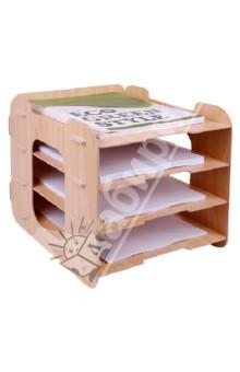 Накопитель для бумаг, 4 секции (070057)Лотки, накопители<br>Накопитель для бумаг<br>4 секции<br>Размер: 280х330х280 мм<br>МДФ<br>Сделано в Китае<br>