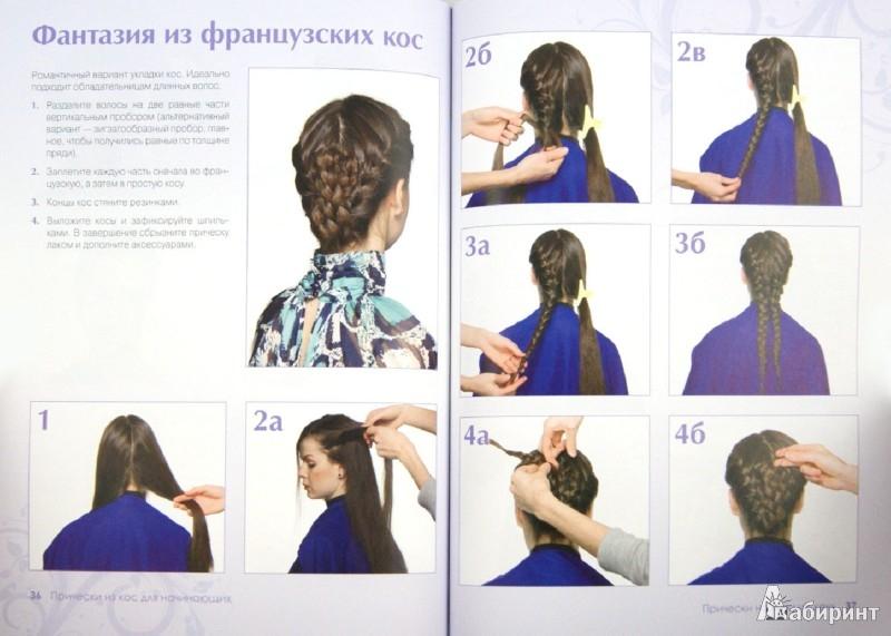 Прически косы пошаговое для начинающих