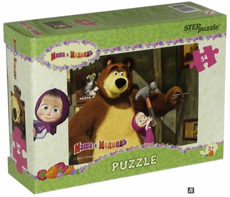 """Иллюстрация 1 из 12 для Step Puzzle-54 """"МашаиМедведь"""" (71120)   Лабиринт - игрушки. Источник: Лабиринт"""