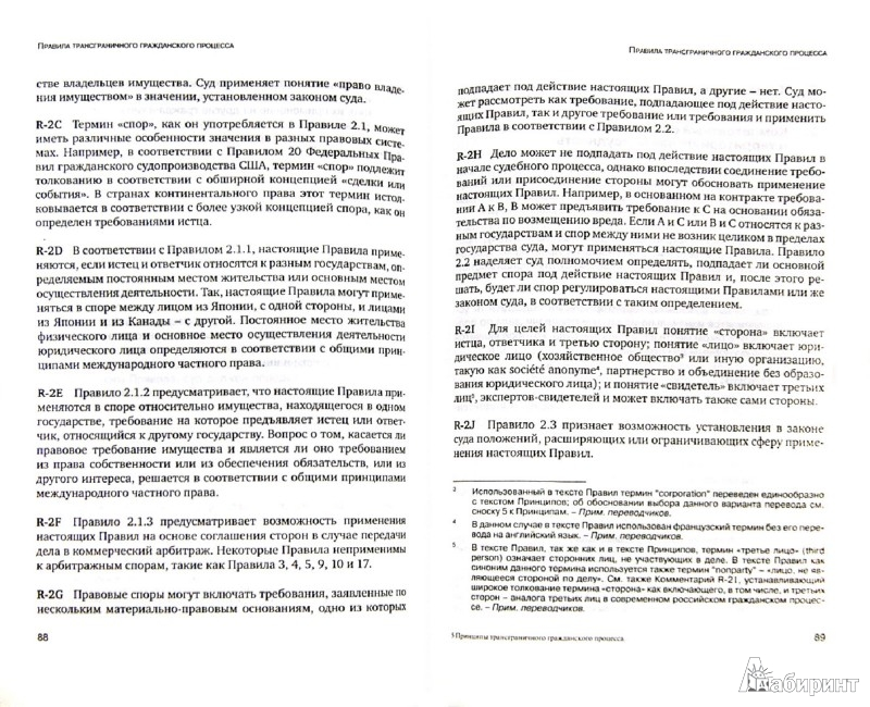 Иллюстрация 1 из 7 для Принципы трансграничного гражданского процесса | Лабиринт - книги. Источник: Лабиринт