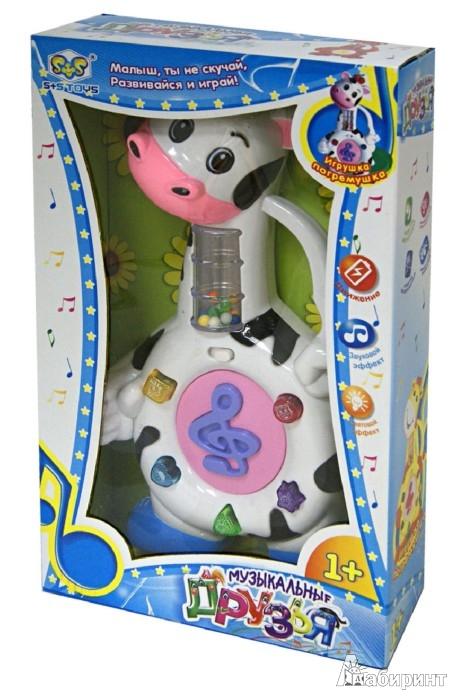 """Иллюстрация 1 из 3 для Развивающая игрушка-погремушка """"Корова"""" со звуковыми и световыми эффектами (EG80000R)   Лабиринт - игрушки. Источник: Лабиринт"""