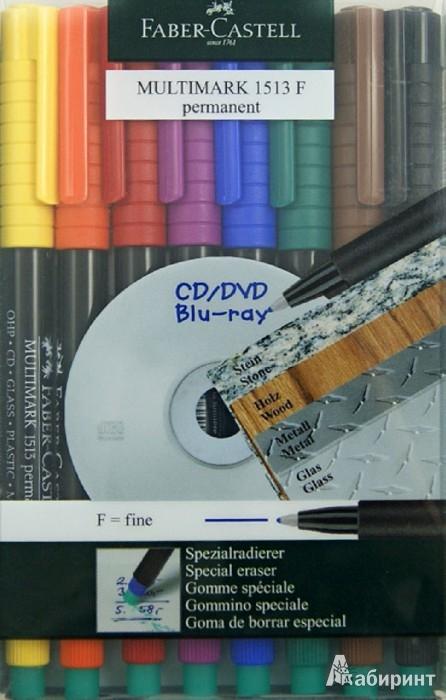 """Иллюстрация 1 из 6 для Капиллярная ручка """"MULTIMARK"""" для письма на CD перманентный, 8 штук (151309)   Лабиринт - канцтовы. Источник: Лабиринт"""