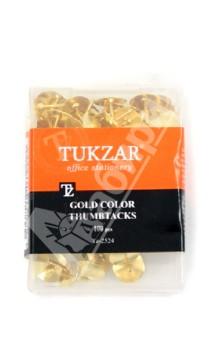 Кнопки канцелярские золотистого цвета 100 штук (TZ 2524)