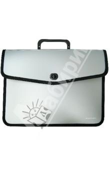 Портфель для бумаг из пластика, серый, с одним отделением. А4 (255157-11)