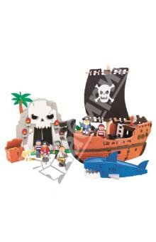 3D пазл. Мягкий конструктор, 124 детали Приключения пиратов (XXL5805)Конструкторы из пластмассы и мягкого пластика<br>3D пазл (мягкий конструктор)<br>Этот безопасный конструктор обязательно порадует Вашего малыша!<br>Материал: вспененный полиэтилен.<br>Упаковка: картонная коробка.<br>Для детей от 4 лет.<br>Сделано в Тайване.<br>