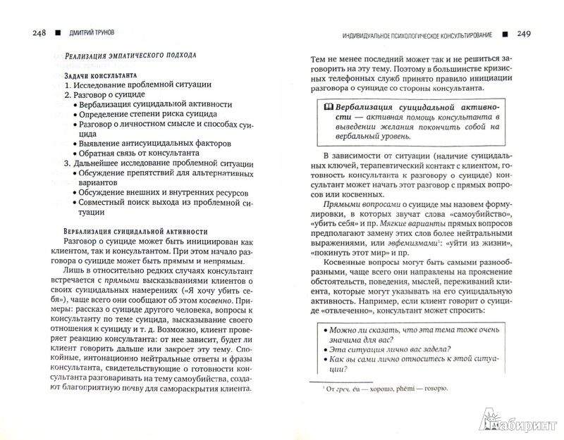 Иллюстрация 1 из 29 для Индивидуальное психологическое консультирование - Дмитрий Трунов | Лабиринт - книги. Источник: Лабиринт