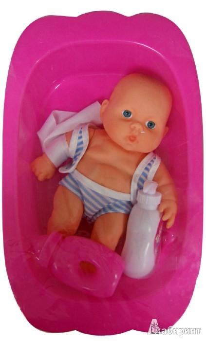 Иллюстрация 1 из 6 для Пупс с ванной и аксессуарами (0912C-18) | Лабиринт - игрушки. Источник: Лабиринт