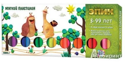 """Иллюстрация 1 из 2 для Мягкий пластилин """"Эпик"""" 500г., 24 цвета (49678)   Лабиринт - игрушки. Источник: Лабиринт"""