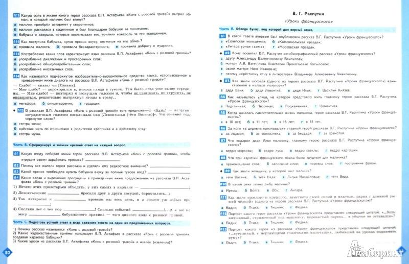 Рабочая тетрадь по Литературе Ахмадуллина для 7 класса
