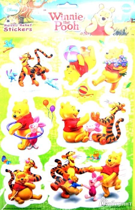 """Иллюстрация 1 из 3 для Наклейки """"Винни Пух"""", на листе (001-STW/002-STW)   Лабиринт - игрушки. Источник: Лабиринт"""