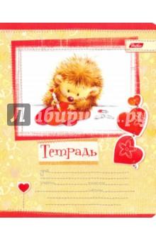 """Тетрадь в линейку """"Пушистики"""", 12 листов (12Т5В2_09567)"""