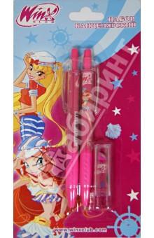 Набор канцелярский ручка + карандаш + ластик (SS-9933/WO)