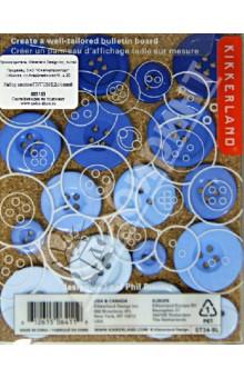 "Набор кнопок ""Пуговицы"", синий Kikkerland"