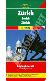 Zurich 1:12 500Атласы и карты мира<br>Explore Zurich with this Freytag &amp;amp; Berndt street map. The best way to plan your trip, prepare your itinerary, and to travel independently in the main city of Switzerland.<br>