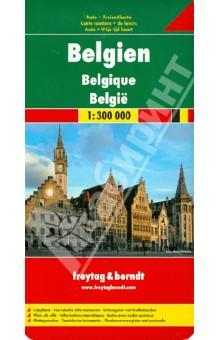 Belgium. Belgien 1:300 000Атласы и карты мира<br>Belgium.1:300000. Road + Leisure Map<br>Touristische Informationen. Ortsregister mit Postleitzahlen. Entfernungen in km.<br>