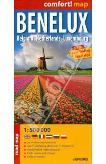 Benelux. Belgium. Netherlands. Luxembourg. 1:500 000