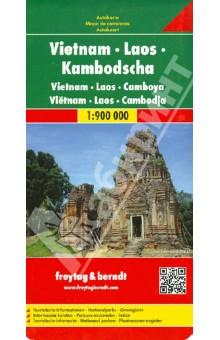 Vietnam. Laos. Kambodscha. 1:900 000