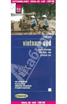 Vietnam, South 1:600 000Атласы и карты мира<br>Carte routiere detaillee editee par Reise Know How en 2012 qui couvre tout le sud du Vietnam. En encart, un index des villes fourni. Cette carte detaillee est indechirable et impermeable.<br>