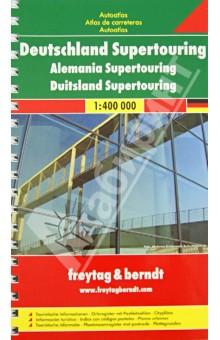 Deutschland Supertouring Autoatlas 1:400 000Атласы и карты мира<br>Deutschland Supertouring Autoatlas. M 1:400 000.<br>Крепление: двойная евроспираль.<br>