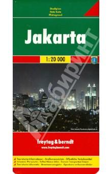 Jakarta 1:20 000Атласы и карты мира<br>Touristische Informationen. Ortsregister mit Postleitzahlen. Entfernungen in km.<br>