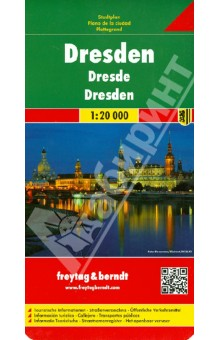 Dresden. 1:20 000Атласы и карты мира<br>Explore Dresden with this Freytag&amp;amp;Berndt street map. The best way to plan your trip, prepare your itinerary, and to travel independently in the capital of Saxony, in East Germany.<br>