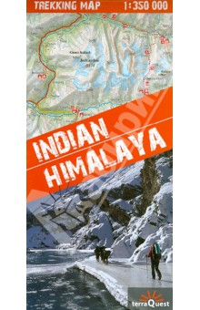 Indian. Himalaya. 1:350 000Атласы и карты мира<br>A unique map of the Indian Himalaya mountains (scale 1:750 000), detailed maps (scale 1:350 000) of 22 trekking itineraries in 10 regions of north-east India (Kashmir, Ladakh, Zanskar, Lahaul, Rupshu, Spiti, Kinnaur, Garhwal, Kumon and Sikkim), tourist and topographical information and other practical information.<br>