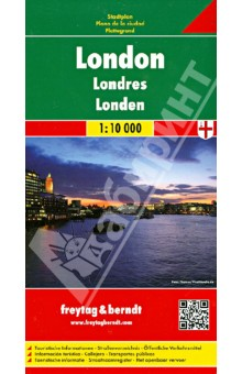 London. 1:10 000Атласы и карты мира<br>Explore London downtown with this Freytag &amp;amp; Berndt street map. The best way to plan your trip, prepare your itinerary, and to travel independently in the British capital. This map covers: from Kensington Park to the Tower of London (west/east), and from Regent s Park to Battersea Park (north/south).<br>Street index on the other side. Touristic information: pesdestrian streets, parks, theatres, museums, religious buildings, monuments, World Heritage sites, police stations, hospitals, tourist centres, post offices, underground, bus terminal.<br>The legend is in English, German, French, Italian, Dutch, Spanish, Czech, Slovak, Polish and Hungarian.<br>