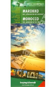 """Marokko - Das """"Konigreich des Westens"""". 1:1 200 000"""