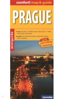 Prague. 1:20 000Атласы и карты мира<br>Brand New Book with Free Worldwide Delivery. This is a smart and convenient combination of a map and a guide book in which the most interesting touristic attractions are clearly marked on a full scale map (one side) and are precisely described on the other side. It is suitable for everybody interested in Prague without a need for carrying heavy guides. Great idea for travelers interested in short or mid time visiting in Prague, but also as an additional help for any guide book.map: city plan 1:20 000 super scale centre 1:11 000, metro map, street indexguide: most attractive sights, travel information, events calendarSize of a map: 68 x 45 cm (unfolded)/ 9,6 x 22 cm (when folded)Die - cutting and lamination technology used in this product is unique. It allows for a very comfortable and long life use.<br>