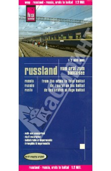 Russland. Vom Ural zum Baikalsee. 1:2 000 000Атласы и карты России<br>This map appears in the map series world mapping project in travel expertise. Characteristic is the high-quality, clear and modern cartographic representation.<br>Contour lines with elevation<br>Coloured elevation levels<br>Classified road network with distances<br>Places of interest<br>Detailed local index<br>GPS capability by longitude and latitude<br>UTM grid<br>