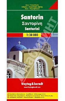 Santorini 1:30 000Атласы и карты мира<br>Touristische Informationen. Ortsregister mit Postleitzahlen. Entfernungen in km.<br>