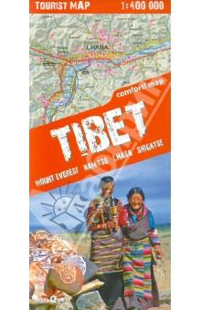 Tibet. Tourist map. 1: 400 000