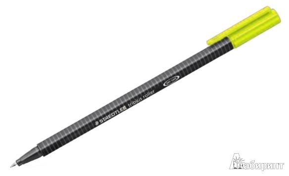 Иллюстрация 1 из 5 для Роллер Triplus 0,3 мм, желтый (403-1)   Лабиринт - канцтовы. Источник: Лабиринт