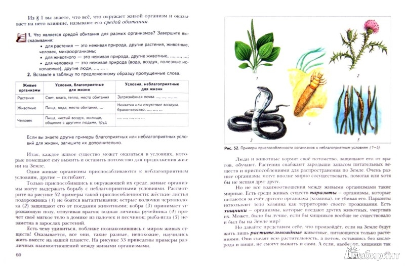 Для книги биология 5 класс учебник