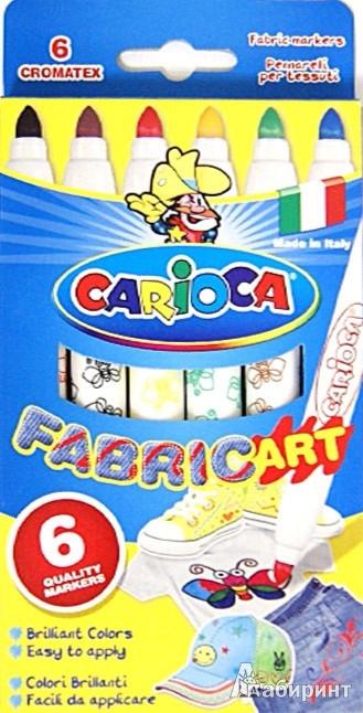 Иллюстрация 1 из 3 для Фломастеры по ткани 6 цветов Cromatex (40956) | Лабиринт - игрушки. Источник: Лабиринт