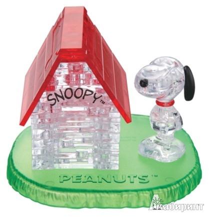 Иллюстрация 1 из 2 для 3D головоломка Crystal Puzzle. Снупи и домик | Лабиринт - игрушки. Источник: Лабиринт