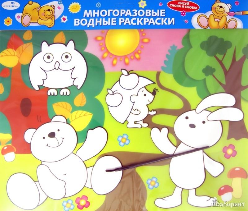 """Иллюстрация 1 из 3 для Водная раскраска """"Лесные зверюшки"""" (AP-S02A)   Лабиринт - книги. Источник: Лабиринт"""