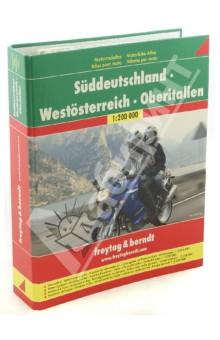 Motorbike Atlas. Germany South. Austria West. Italy North