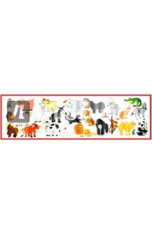 Набор наклеек Животные: домашние и экзотические (Н-1408)Наклейки детские<br>С помощью набора можно не просто познакомиться с веселыми и озорными животными, но и создать неповторимые и красочные карточки для занятий, развивающие материалы или просто украсить любую ровную поверхность. Картинки легко вырезать ножницами так, как вам необходимо.<br>Внимание малыша обязательно привлекут красочные наклейки из набора. Размер каждого изображения подобран так, чтобы малыш смог рассмотреть все детали картинки. Поверхность полотна покрыта специальной защитной пленкой, что позволяет протирать их влажной тряпкой.  Все изображения можно вырезать обычными ножницами по своему усмотрению или приклеить на ровную поверхность целой лентой, украсив детскую комнату. Вместе с малышом можно сделать неповторимые развивающие материалы - кубики, книжки-гармошки, карточки для игры и обучения.  <br>Продолжайте обучение-игру, собирая наборы-корзинки от ХЭППИ-Ко с лесными и садовыми ягодами, грибами, орешками, нашими любимыми  фруктами, овощами, цветами!<br>ВНИМАНИЕ! Все магнитные наборы продаются листами - карточки необходимо вырезать самостоятельно обычными ножницами.<br>Размер набора в развернутом виде: 30 х 105 см; <br>Размер одного изображения: 6,5 х 6,5 см; <br>На листе 24 изображения.<br>Материал: Самоклеящаяся пленка;<br>Возраст: Для детей от 3-х лет. <br>Сделано в России.<br>