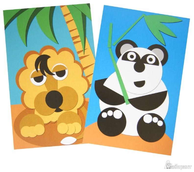 Иллюстрация 1 из 2 для Аппликации. Веселые звери. 15 карточек - Сергей Афонькин | Лабиринт - книги. Источник: Лабиринт