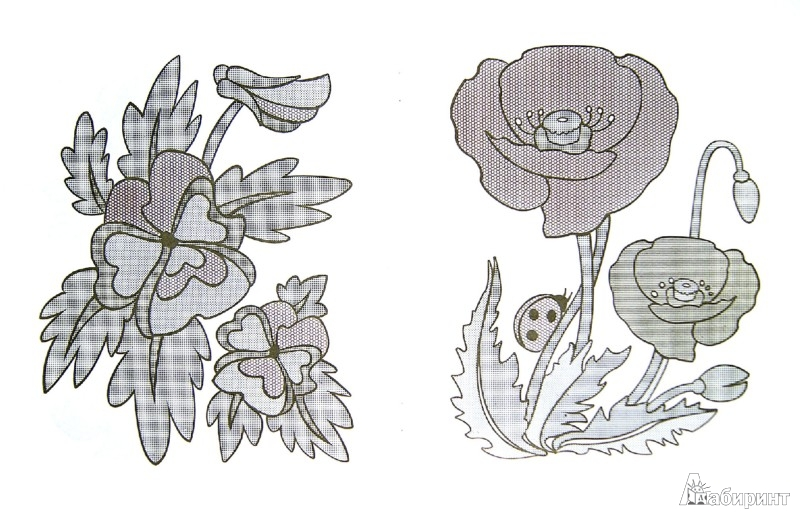 Иллюстрация 1 из 8 для Цветочная поляна. Раскрась водой | Лабиринт - книги. Источник: Лабиринт