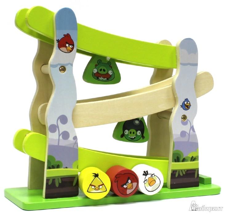 Иллюстрация 1 из 2 для Горка Angry Birds. Настольная игра с 3 фигруками | Лабиринт - игрушки. Источник: Лабиринт