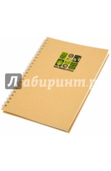 Блокнот на спирали с крафт-обложкой А4 (070197)Блокноты большие Клетка<br>Блокнот  на спирали.<br>80 листов. <br>Тип бумаги: офсет<br>Разлиновка: клетка.<br>Без полей.<br>Крепление: двойная спираль.<br>Тип обложки: крафт-обложка.<br>Размер: 220 х 295 мм.<br>Сделано в Китае.<br>