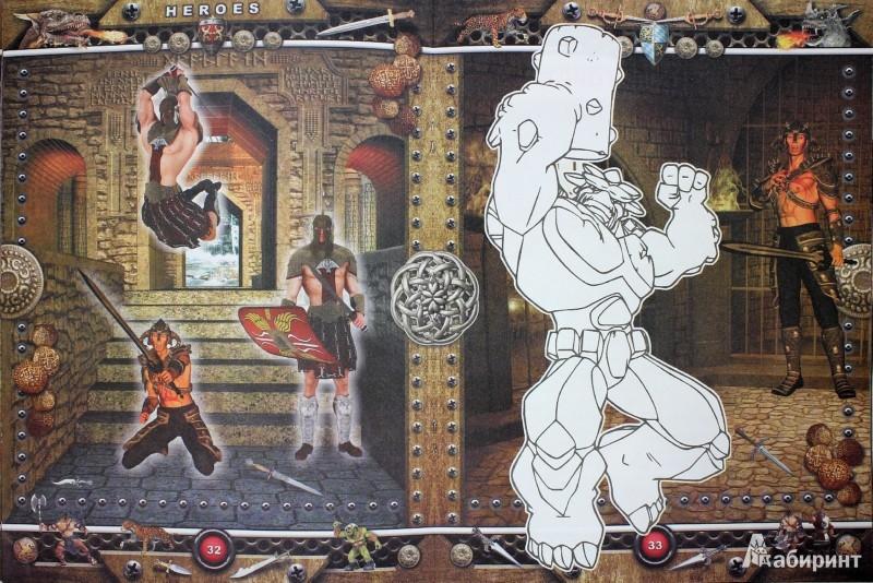 Иллюстрация 1 из 13 для Heroes. Большие приключения: книга-раскраска-конструктор   Лабиринт - книги. Источник: Лабиринт