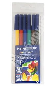Фломастеры 6 цветов Noris Club (326WP6)Фломастеры 6 цветов (1—8)<br>Набор фломастеров.<br>волоконнo-капиллярный наконечник, прочный и стойкий к давлению при рисовании; <br>уникальная система DRY SAFE. Фломастер  может быть оставлен открытым  в течение нескольких дней без угрозы высыхания (тест ISO 554);<br>вентилируемый колпачок, соответствующий ISO 11540 и BS 7272-1/2;<br>чернила на водной основе, содержат пищевой краситель и легко смываются с большинства типов тканей;<br>материал корпуса гарантирует длительный срок службы:<br>фломастеры соответствуют Европейскому стандарту  EN 71 (требования безопасности к игрушкам);<br>линия шириной около 1,0 мм, идеально подходит для рисования эскизов и контурных зарисовок, а также для рисования.<br>Сделано в Германии.<br>