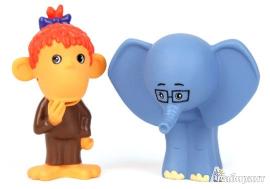 Иллюстрация 1 из 8 для Пластизоль Мартышка и Слоник (GT7170)   Лабиринт - игрушки. Источник: Лабиринт