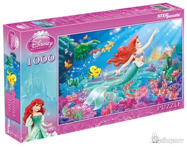 """Иллюстрация 1 из 2 для Step Puzzle-1000 DISNEY """"Ариэль"""" (79600)   Лабиринт - игрушки. Источник: Лабиринт"""