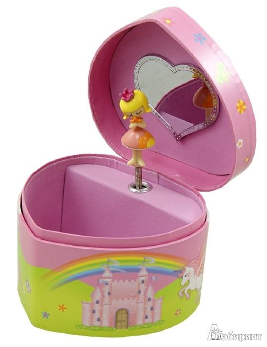 """Иллюстрация 1 из 4 для Шкатулка музыкальная """"Принцесса и единорог"""" (10000)   Лабиринт - игрушки. Источник: Лабиринт"""