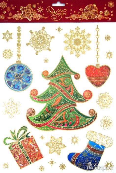 Иллюстрация 1 из 6 для Украшение новогоднее оконное Елка (31274) | Лабиринт - сувениры. Источник: Лабиринт